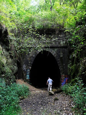 The Claudius Crozet Blue Ridge Tunnel was built in the 1850s