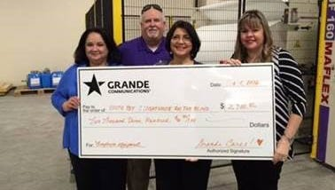 Grande Cares board member Leticia Salazar (from left); Grande Sales Manager, Rod Phillips; Grande Cares board member, Rosie Gonzalez; South Texas Lighthouse for the Blind Director of Public Affairs & Development, Alana Manrow