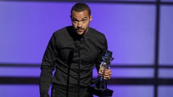 Jesse Williams takes the stage at the BET Awards at