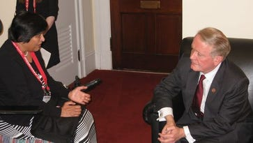 Sonal Shah, a resident of the Basking Ridge section of Bernards and an ALS patient, visited Capitol Hill in May 2014 to promote ALS awareness. She met with local legislators, including U.S. Rep. Leonard Lance, R-N.J., 7th District,.