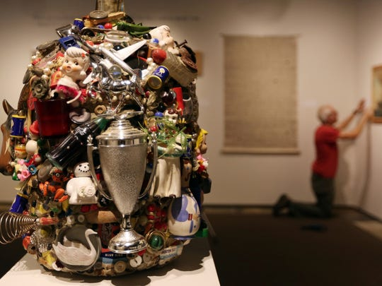 """Memory Jug"" by Montana artist Brenda Clements is on display at the Hallie Ford Museum of Art at Willamette University in Salem."