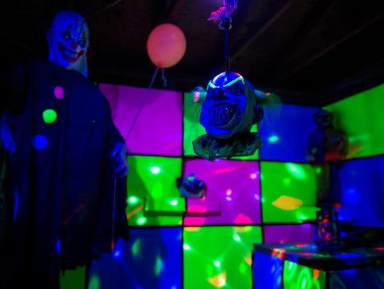 "A clown room in ""Nightmare on Eastbrooke,"" neighborhood-run"