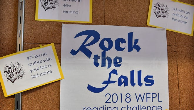 The Wichita Falls Public Library is offering its first year-long reading challenge, Rock the Falls. The program includes 26 prompts or ideas for choosing books that ensures the patron experiences a wide variety of reading material throughout the year.