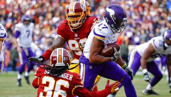 Minnesota Vikings wide receiver Jarius Wright (17)