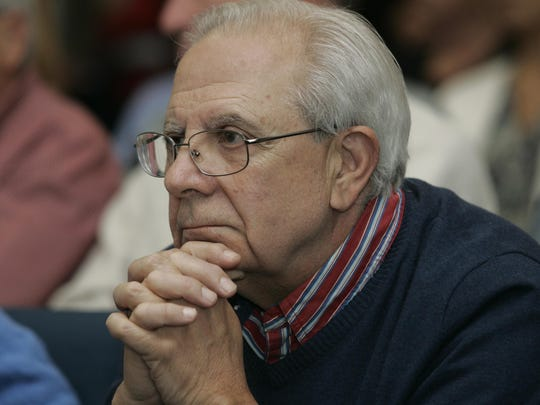 Raymond Carbone, Colts Neck, listens to presentations