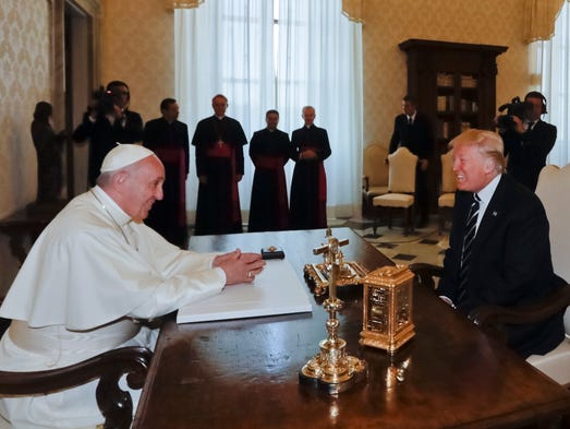 Pope Francis meets with President Trump at the Vatican