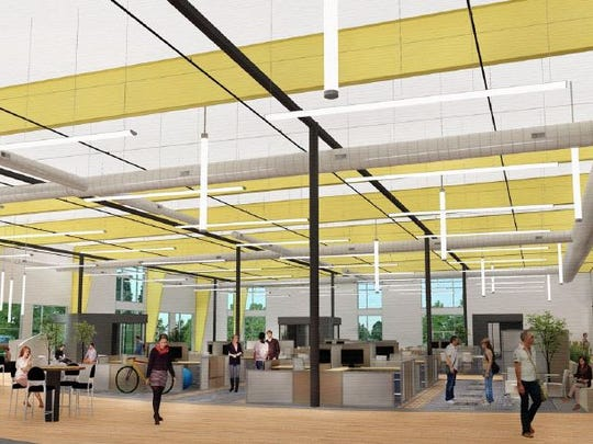 An interior rendering of the planned Cool Springs Technology Center, which will replace A-Game Sportsplex in Franklin