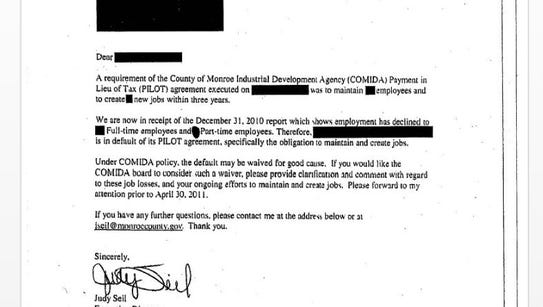 Redacted COMIDA letter, work product of D&C FOIL request