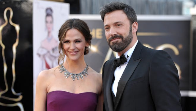 Actors Jennifer Garner, left, and Ben Affleck