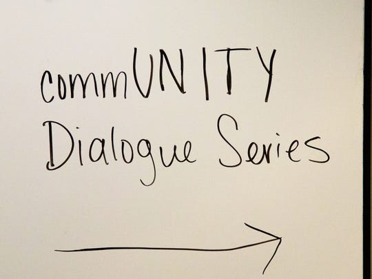 The CommUNITY Dialogue Series was hosted in the Dunlap Student Success Center as a program of the Center for Leadership & Social Change.