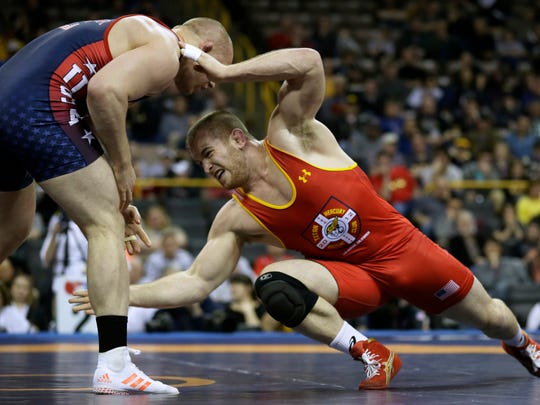 28f00e8160af91 Olympic wrestling trials  Two clinch spots in Rio
