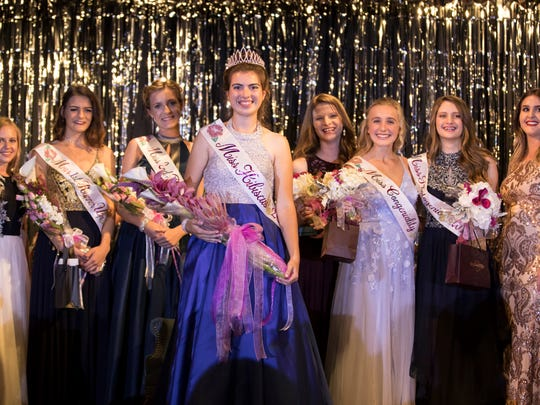 The annual Miss Hibiscus Pageant, featuring 15 contestants, was held at the Heritage Center in Vero Beach on Thursday, April 5, 2018. The event kicks off the annual Hibiscus Festival being held downtown Saturday and Sunday on 14th Avenue in downtown Vero Beach.