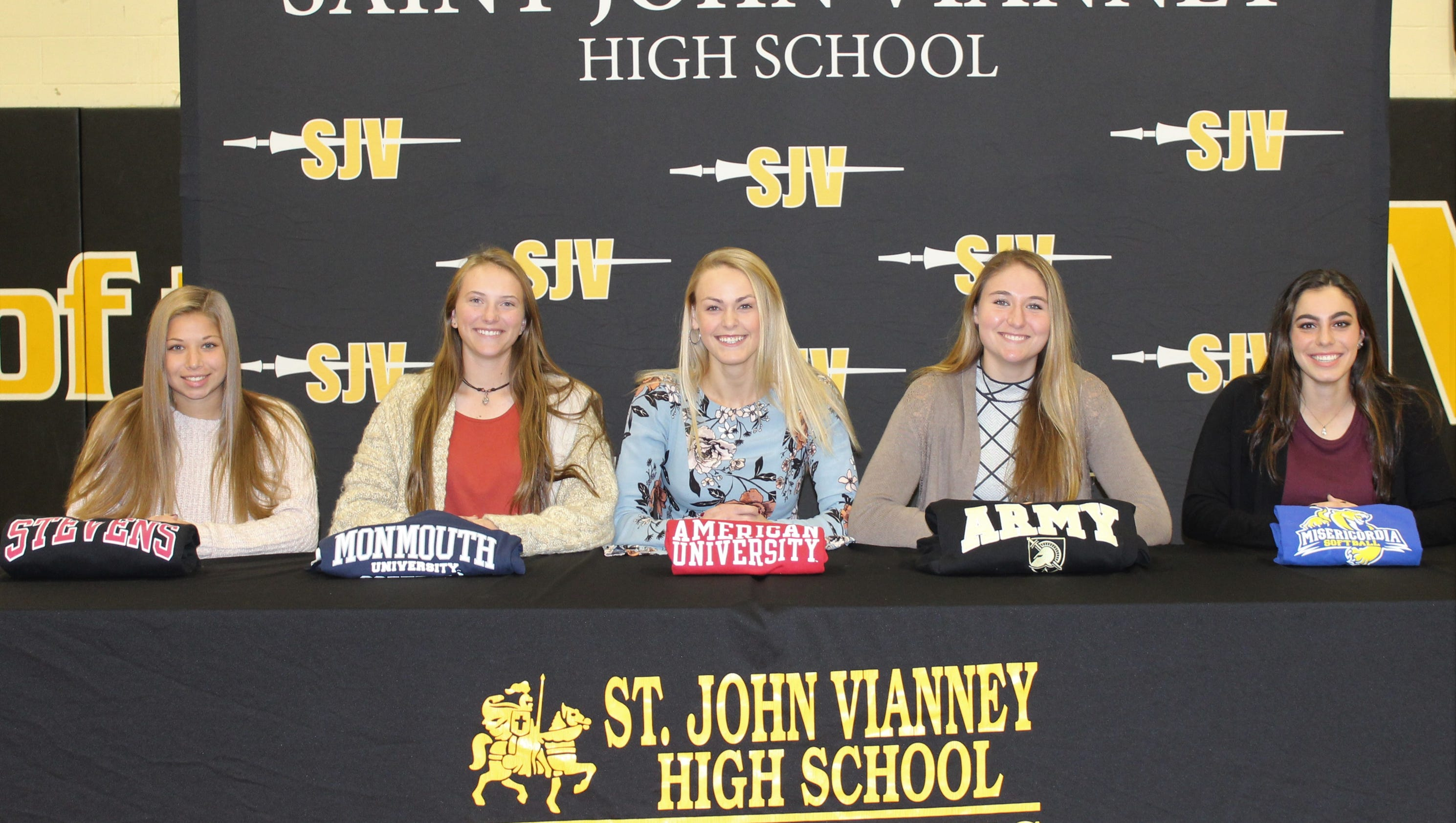 signing day  shore high school athletes sign letters of intent
