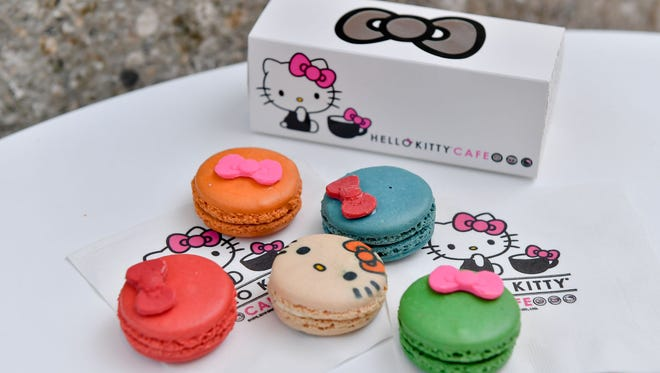 The five-piece macaron from the Hello Kitty Cafe Truck.