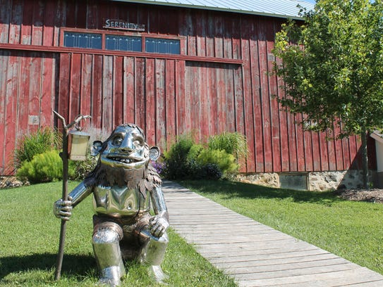 A stainless-steel troll created by Slinger artist James
