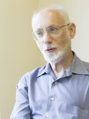 Rabbi Jeff Portman reflects on his time at Agudas Achim in Coralville on Friday, June 12, 2015. Portman will retire after 41 years. David Scrivner / Iowa City Press-Citizen