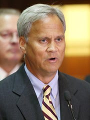 State Sen. Jim Merritt speaks during a news conference