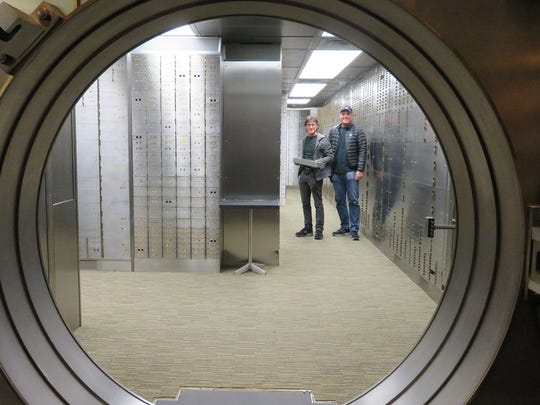 In the vault behind them, Steve Capper, left. and Dave