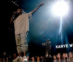 Kanye West accepts the Vanguard Award onstage during the 2015 MTV Video Music Awards at Microsoft Theater on August 30, 2015 in Los Angeles, California.