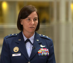 Maj Gen Sarah Zabel, vice director of DISA, says the Defense Department has a lot of work to do yet to secure its vast array of weapons systems.