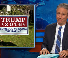 Screenshot from 'Daily Show' segment from July 2 on Donald Trump.