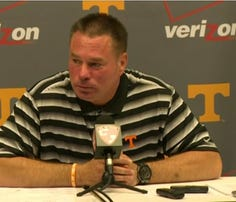 Butch Jones holds pre-camp news conference