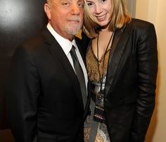 Billy Joel and girlfriend Alexis Roderick at the Barclays Center of Brooklyn on Dec. 31, 2013.