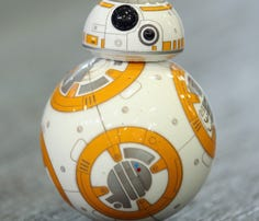 A Sphero BB-8 Star Wars droid rolls around at the Sphero stand at the 2015 IFA consumer electronics and appliances trade fair Sep. 4 in Berlin, Germany.