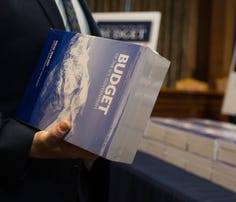 The president's 2017 budget is delivered to the Senate Budget Committee in Washington on Tuesday.