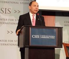 VA Secretary Bob McDonald speaks during an event at the Center for Strategic and International Studies in Washington, D.C., on Wednesday.