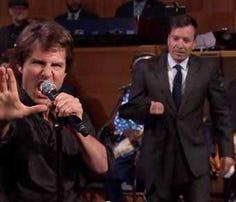 Tom Cruise on the Fallon show lip sync battle.