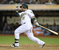 A's beat the Indians 5-1 at O.co Coliseum on August 1, 2015 in Oakland, California.