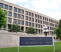 The Frances Perkins Building of the U.S. Department of Labor headquarters in Washington, D.C.