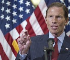 US Senator Richard Blumenthal(D-CT) has called on the Department of Justice to investigate two executives at the Department of Veterans Affairs who allegedly used their positions for benefit.