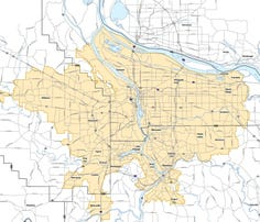 Urban Growth Boundary for the Portland metro area
