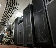 A data center at Eglin Air Force Base, Florida.