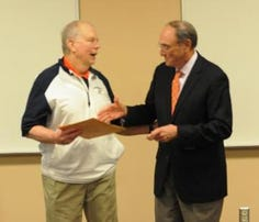 Ken Sparks was honored on Tuesday.