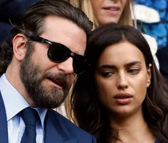 Actor Bradley Cooper and his girlfriend, model Irina Shayk, attended the Wimbledon Tennis Championships in London on July 10. Cooper and Shayk were spotted at the 2016 Democratic National Convention in Philadelphia on Wednesday.