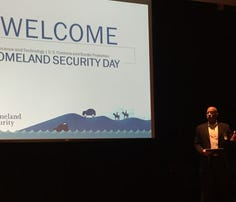 Homeland Security Undersecretary for Science and Technology Reginald Brothers kicks off Homeland Security Day in Menlo Park, California, on April 29, 2016.