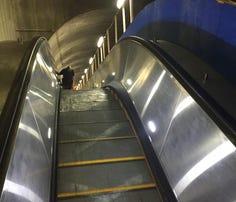 New escalator debuts at Bethesda Metro