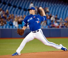 Matt Boyd made his major league debut Saturday, pitching for the Toronto Blue Jays.