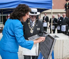 The City of Lakewood buries its time capsule, to be opened in 100 years.