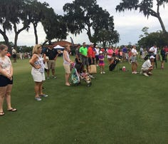 Several young golfers competed for a chance at Augusta