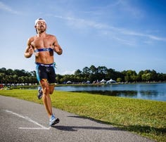 To prepare for Badwater, Capt. Jared Struck been running six days a week, including running in place in a 190-degree sauna for up to an hour.