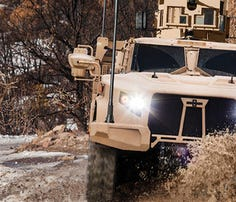 Oshkosh was selected for the Joint Light Tactical Vehicle award.