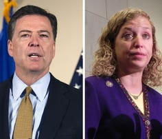 The FBI, led by Directory James Comey, is investigating the leaked DNC emails that led to Committee Chair Debbie Wasserman Shultz announcing her intention to resign.