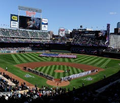 MINNEAPOLIS, MN - APRIL 7: A general view of Target Field before the home opening game between the Minnesota Twins and the Oakland Athletics on April 7, 2014 at Target Field in Minneapolis, Minnesota. (Photo by Hannah Foslien/Getty Images)