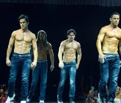 We won't judge you for looking at these 'Magic Mike' premiere photos