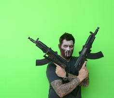 "Former Navy SEAL and ""Lone Survivor"" author Marcus Luttrell plays himself in the upcoming zom-com ""Range 15."""