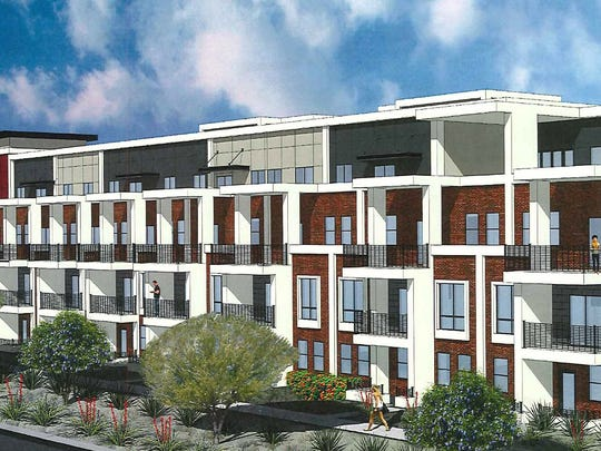 Alta Osborn project: Wood Partners plans to build a four-story residential complex with 277 units on the site of a vacant auto dealership in south Scottsdale.